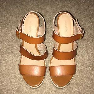 Strapped block heels